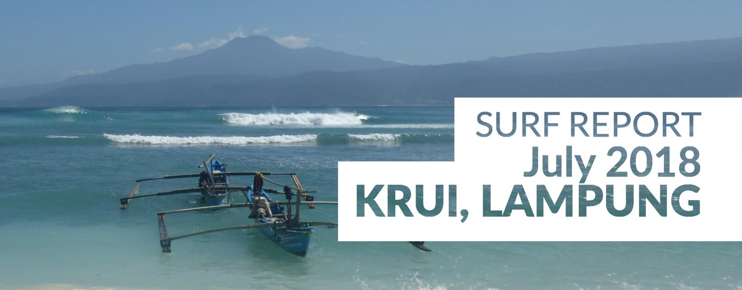Krui, South Sumatra, Surf Report July 2018